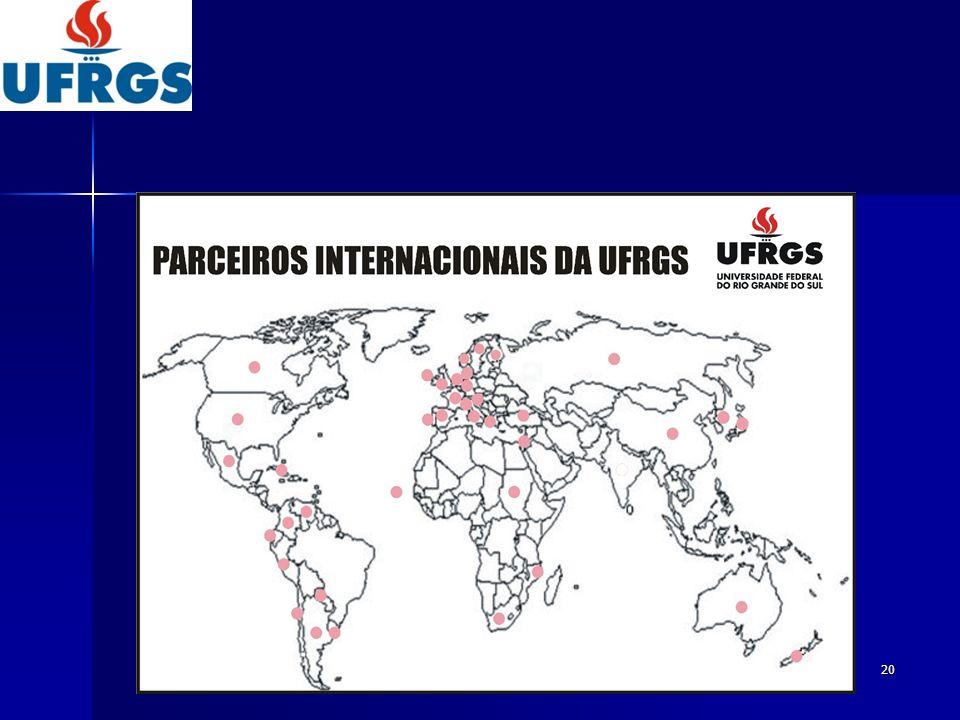 21 Alunos Internacionais – Gradução (semestral) 80 PEC-Grad.