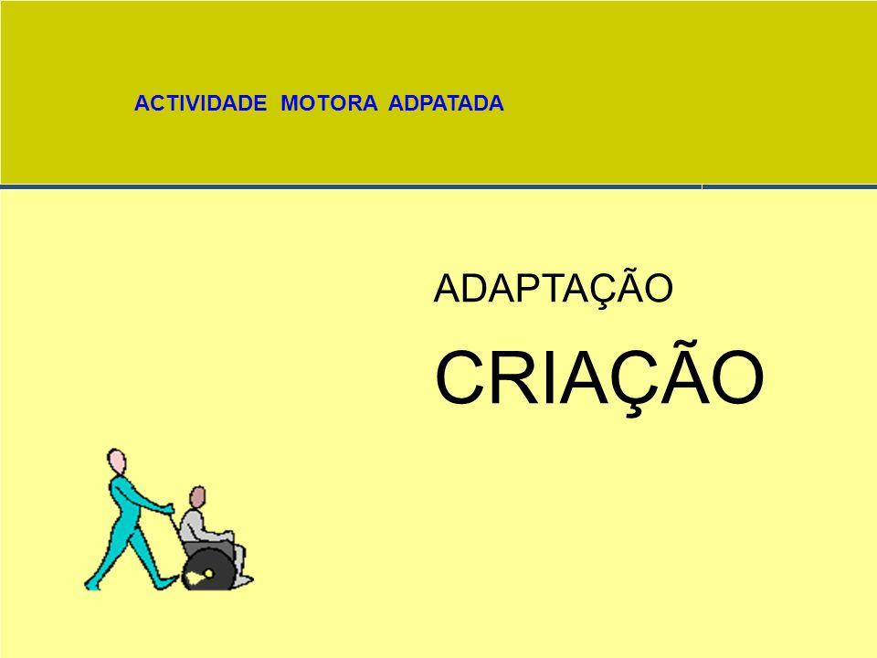 ACTIVIDADE MOTORA ADPATADA ADAPTAÇÃO / / CRIAÇÃO. / CRIAÇÃO. OBRIGADO