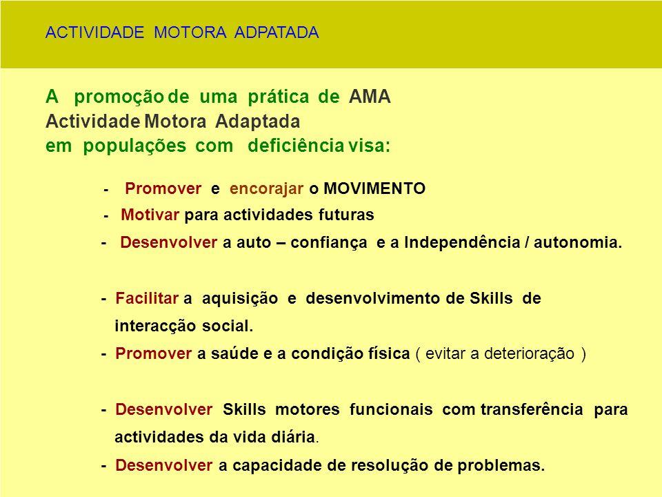 1 - ADAPTAÇÃO DE ACTIVIDADES ACTIVIDADE FÍSICA PRÉ- EXISTENTE ( JOGO ) POPULAÇÃO ALVO ANÁLISE ADAPTAÇÃO JOGO ---- ACTIVIDADE FÍSICA ADAPTADA 2 – CRIAÇÃO DE ACTIVIDADES ADAPTADAS POPULAÇÃO ALVO ANÁLISE CRIAÇÃO JOGO --- ACTIVIDADE ADAPTADA