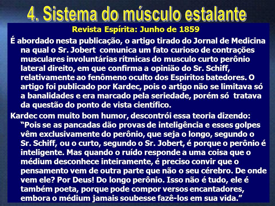 16 É abordado nesta publicação, o artigo tirado do Jornal de Medicina na qual o Sr. Jobert comunica um fato curioso de contrações musculares involuntá