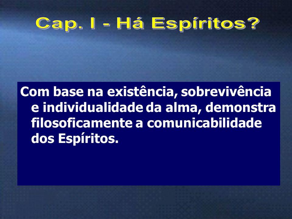 3 Com base na existência, sobrevivência e individualidade da alma, demonstra filosoficamente a comunicabilidade dos Espíritos.