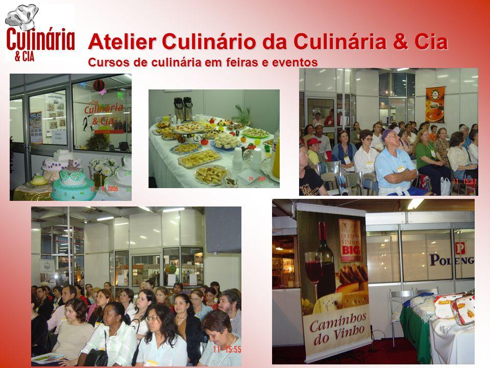 Atelier Culinário da Culinária & Cia Cursos de culinária em feiras e eventos