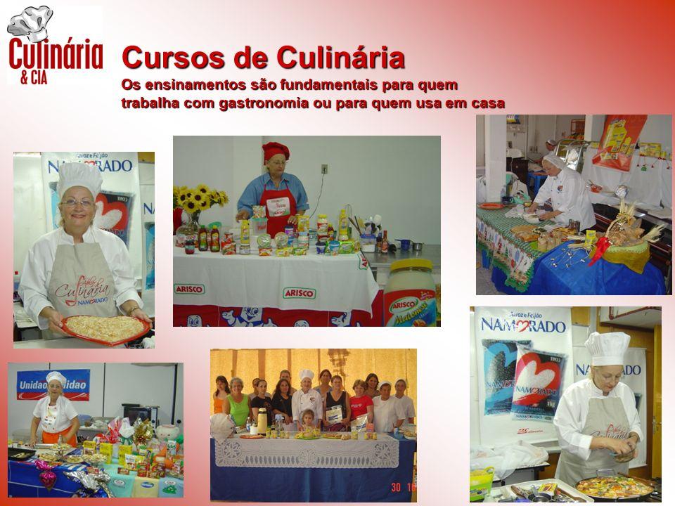 Cursos de Culinária Os ensinamentos são fundamentais para quem trabalha com gastronomia ou para quem usa em casa