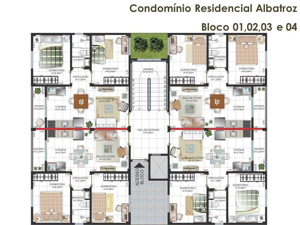 Condomínio Residencial Albatroz Bloco 01,02,03 e 04