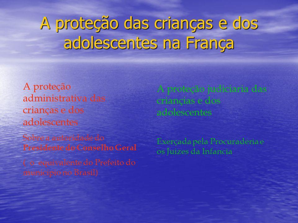 A proteção das crianças e dos adolescentes na França A proteção administrativa das crianças e dos adolescentes Sobre a autoridade do Presidente do Con