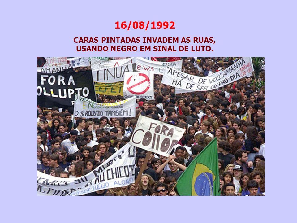 23/08/1992 -O relator da CPMI, 5 dias antes do prazo estipulado (45 dias), entrega o relatório: 35 reuniões no total; 23 testemunhas foram ouvidas; 130 documentos autuados