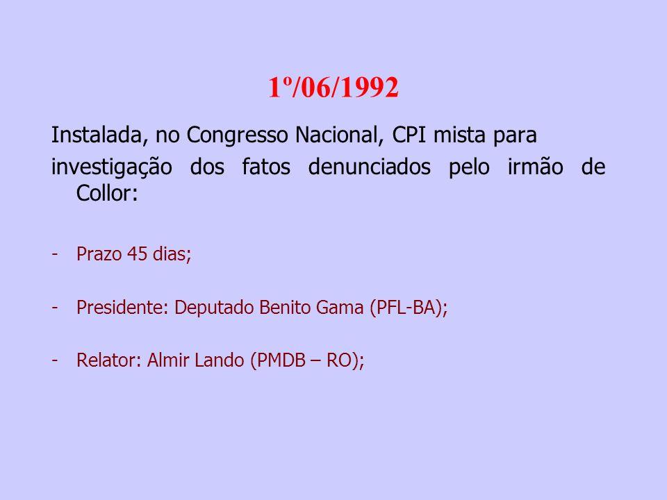 28/06/1992 A Revista ISTO É publica entrevista com Eriberto França, motorista do Palácio do Planalto: