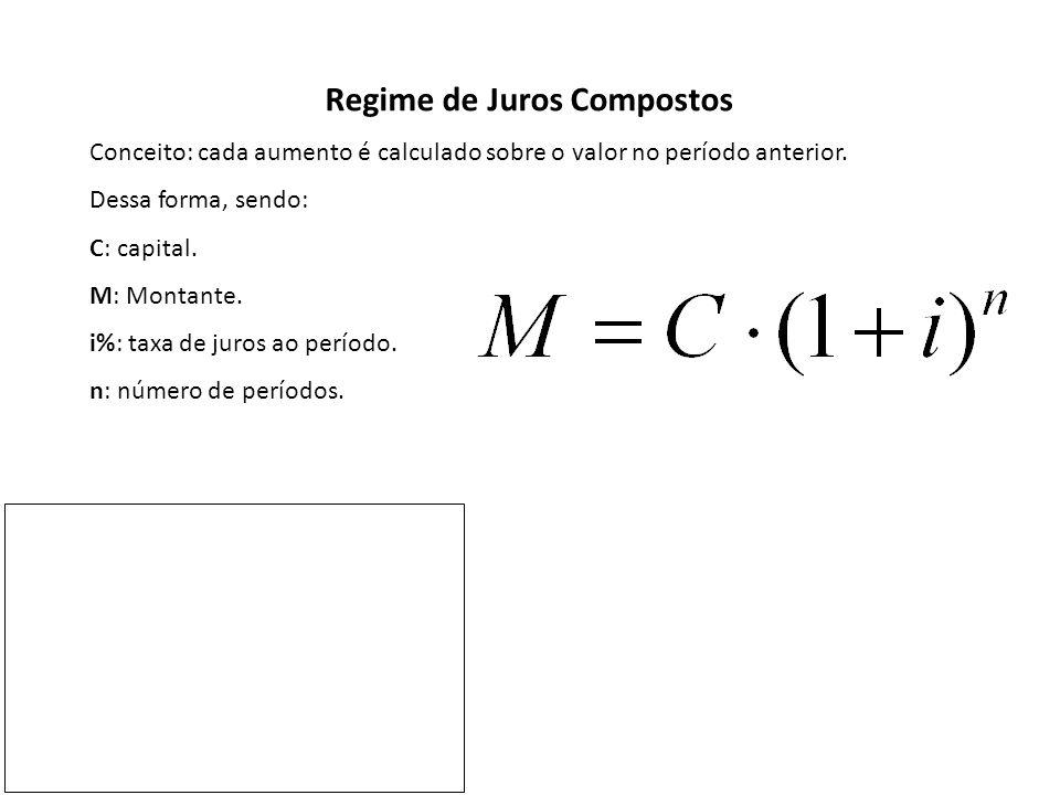 Temos ainda: Em que J representa o juro da aplicação.