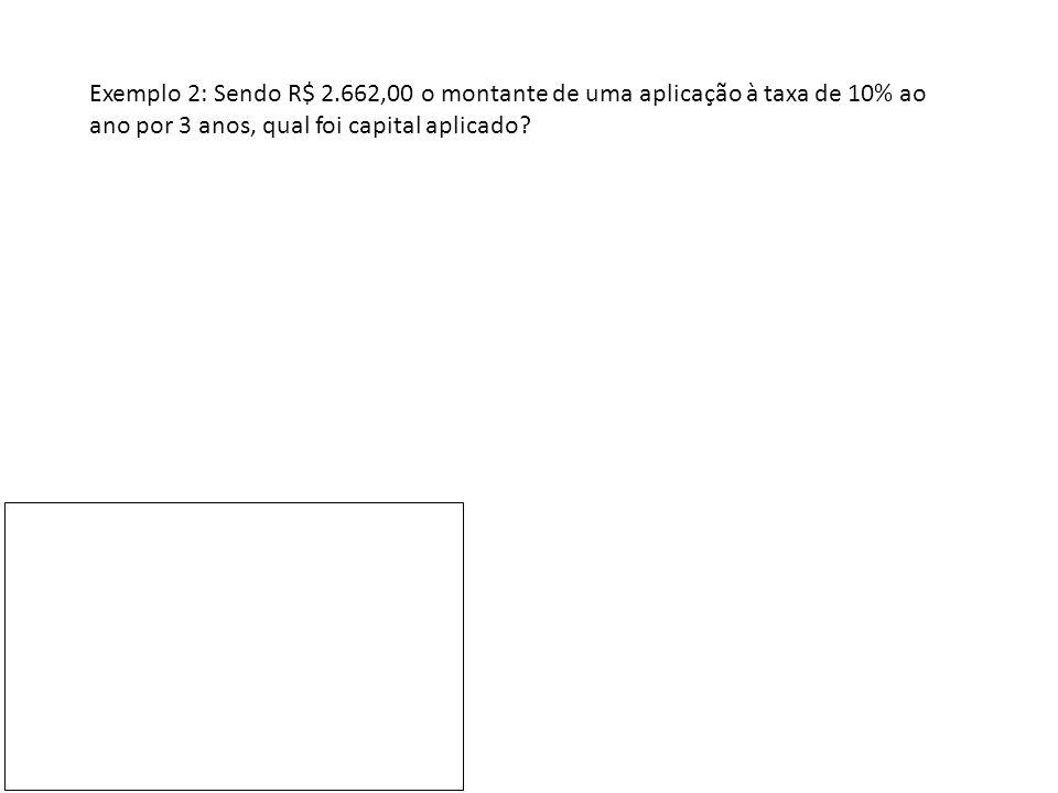 Exemplo 3: Sendo R$ 1440,00 o montante de uma aplicação de R$ 1.000,00 à taxa de 20% ao ano, durante quantos meses o dinheiro ficou aplicado?
