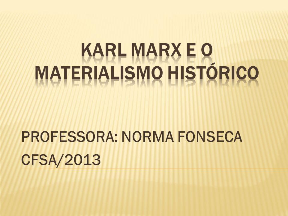 PROFESSORA: NORMA FONSECA CFSA/2013