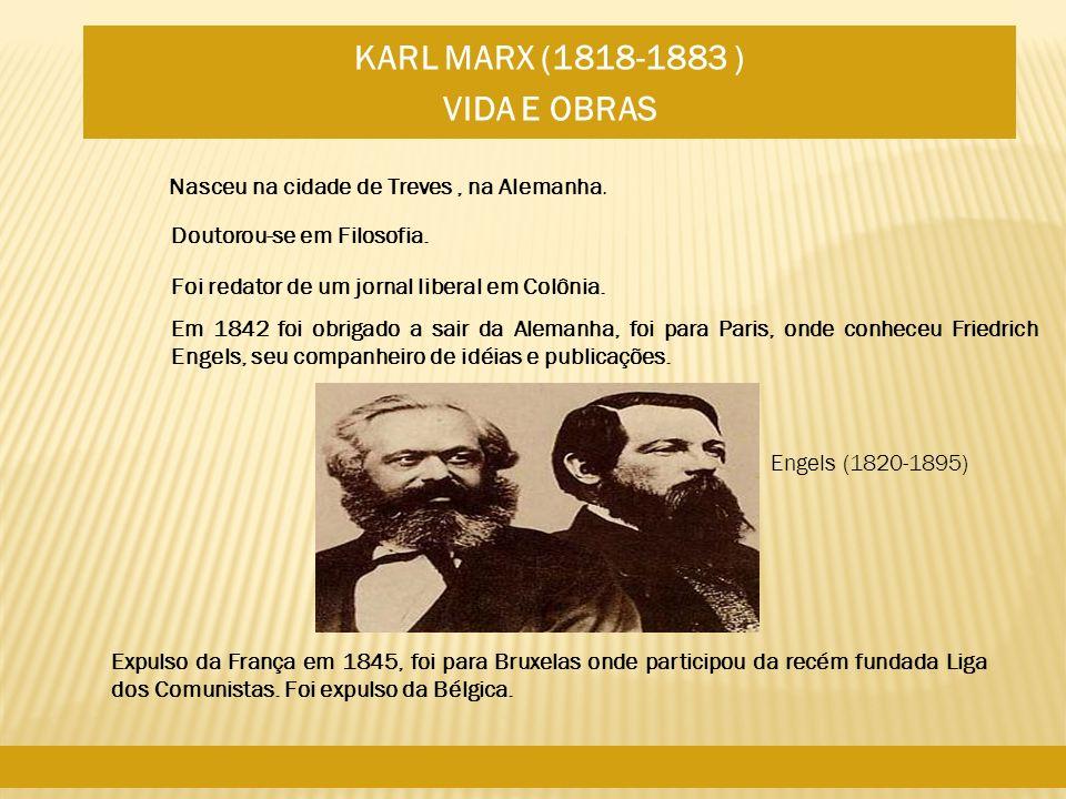 Nasceu na cidade de Treves, na Alemanha. Doutorou-se em Filosofia. Foi redator de um jornal liberal em Colônia. Em 1842 foi obrigado a sair da Alemanh