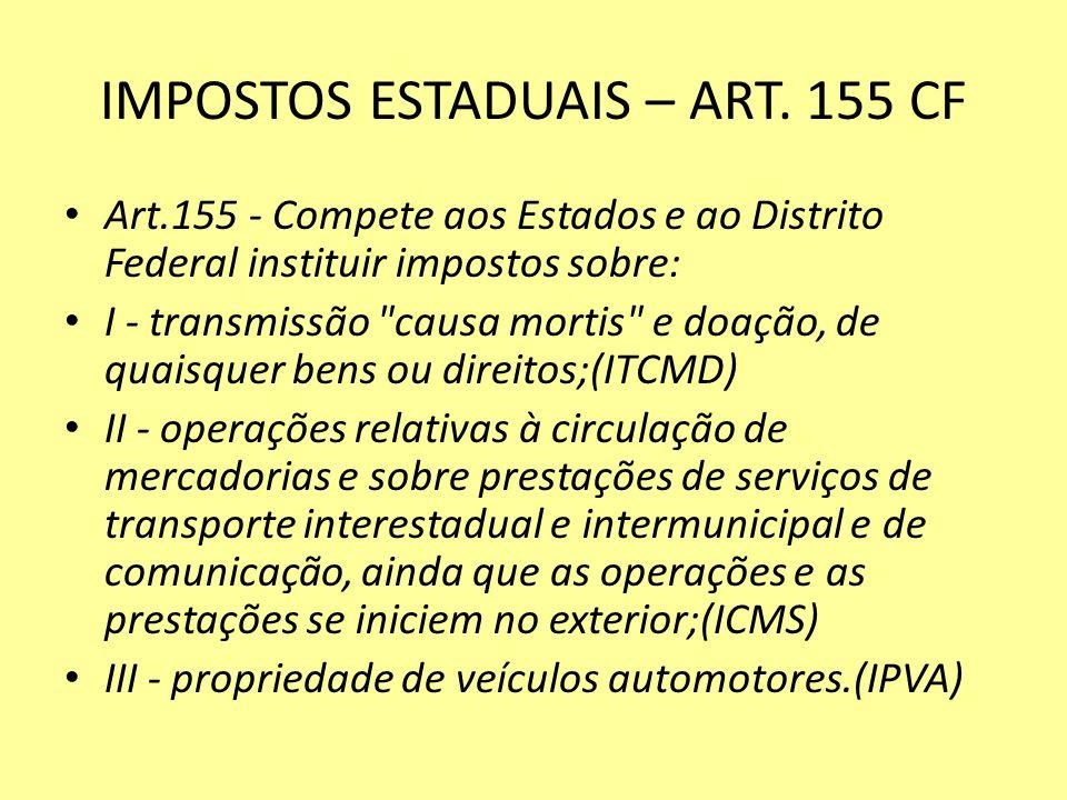 IMPOSTOS ESTADUAIS – ART.