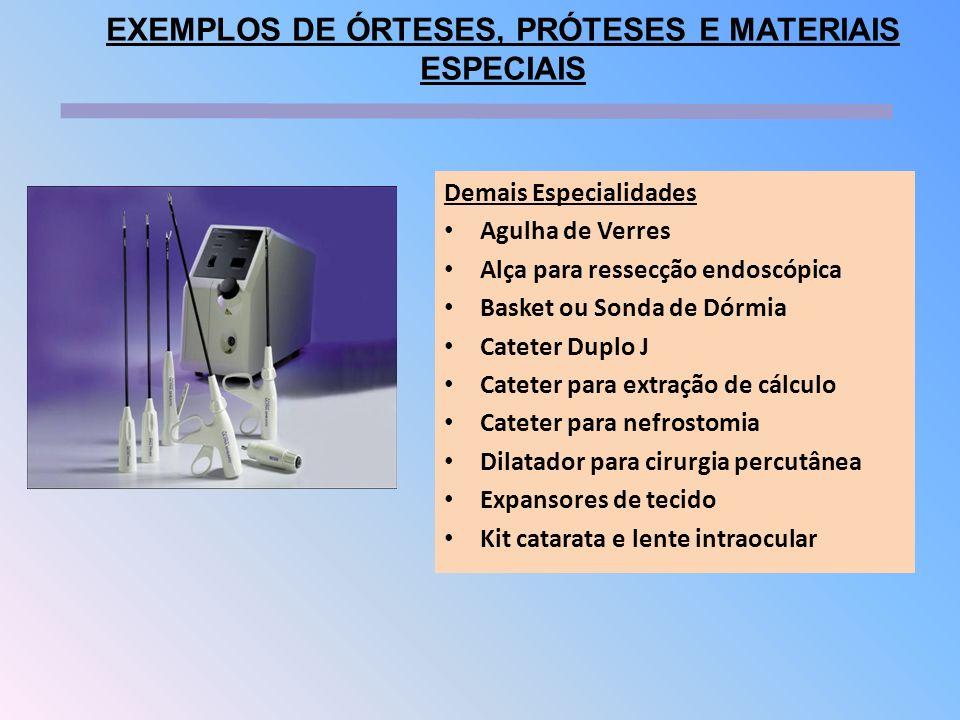 Demais Especialidades Agulha de Verres Alça para ressecção endoscópica Basket ou Sonda de Dórmia Cateter Duplo J Cateter para extração de cálculo Cate