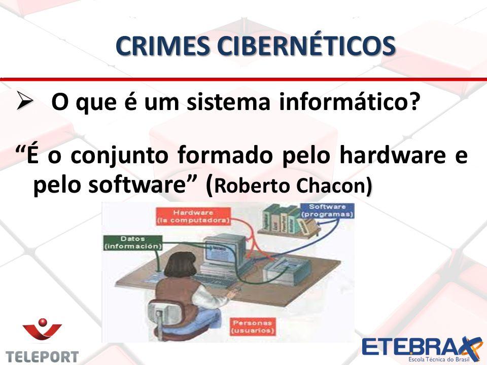 CRIMES CIBERNÉTICOS O que é um sistema informático.