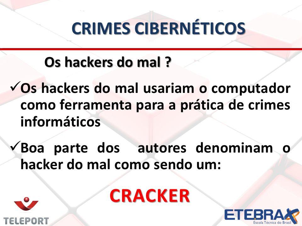 CRIMES CIBERNÉTICOS Os hackers do mal .Os hackers do mal .