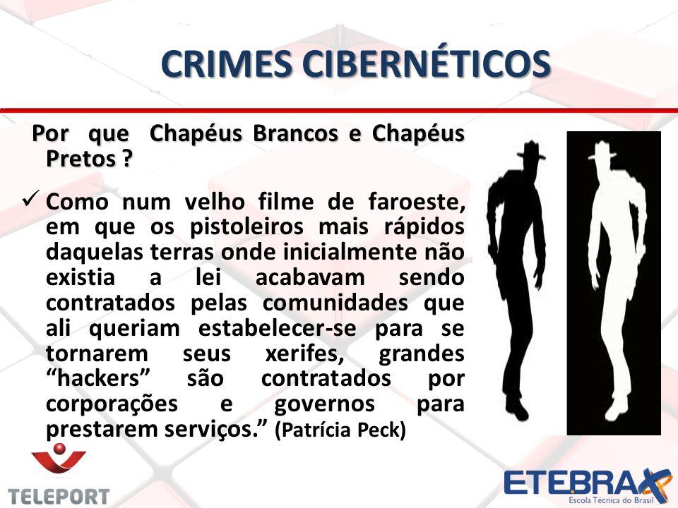 CRIMES CIBERNÉTICOS Por que Chapéus Brancos e Chapéus Pretos .