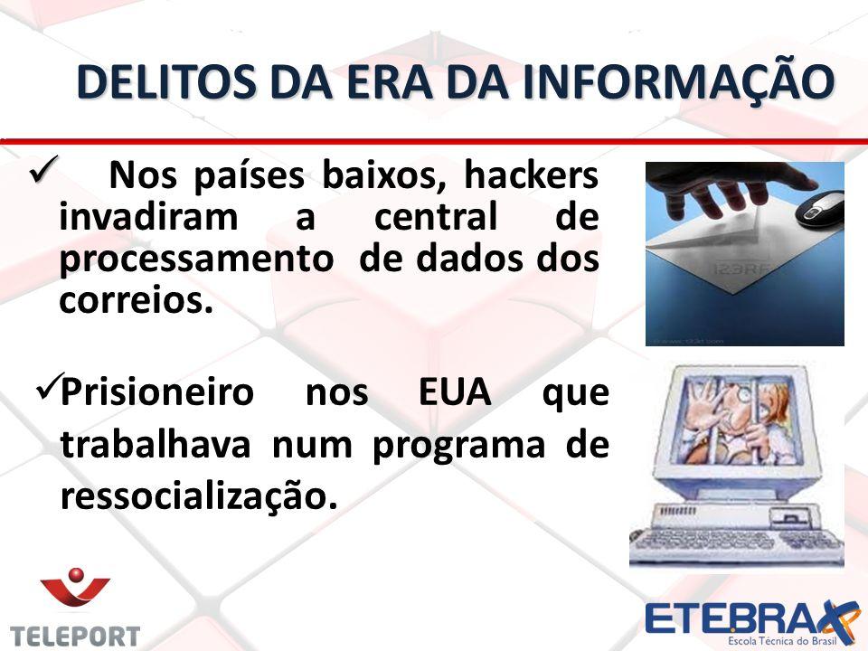 DELITOS DA ERA DA INFORMAÇÃO Nos países baixos, hackers invadiram a central de processamento de dados dos correios.