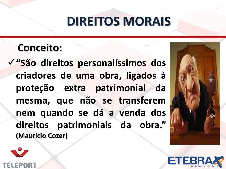DIREITOS MORAIS Conceito: Conceito:.
