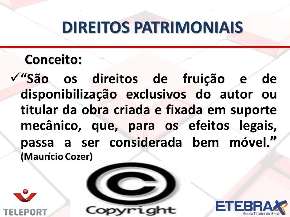 DIREITOS PATRIMONIAIS Conceito: Conceito:.