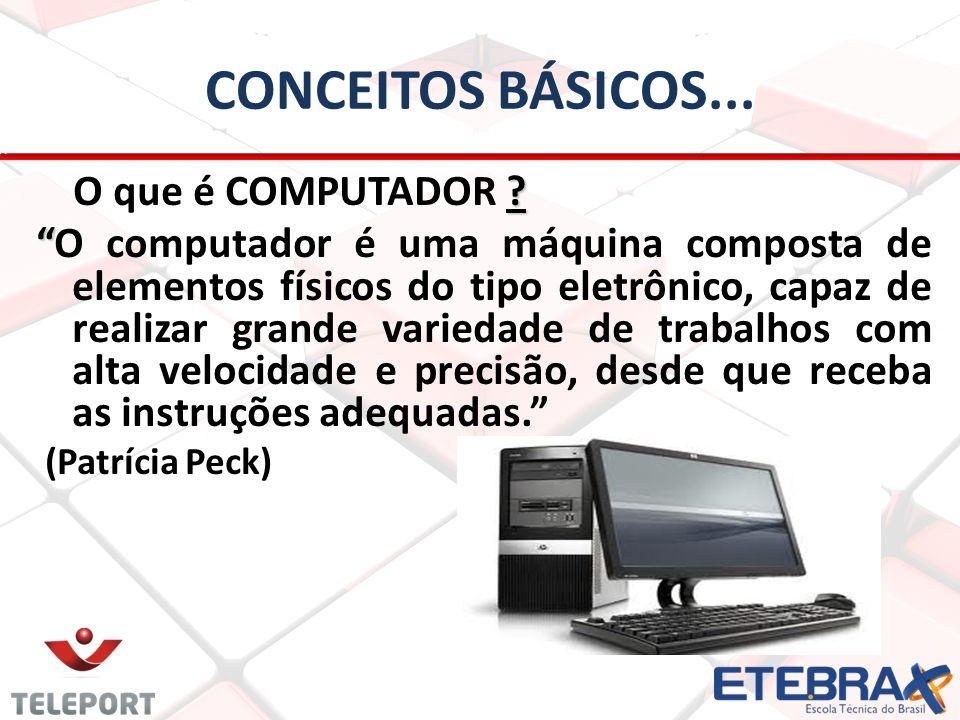 CONCEITOS BÁSICOS...O que é COMPUTADOR .
