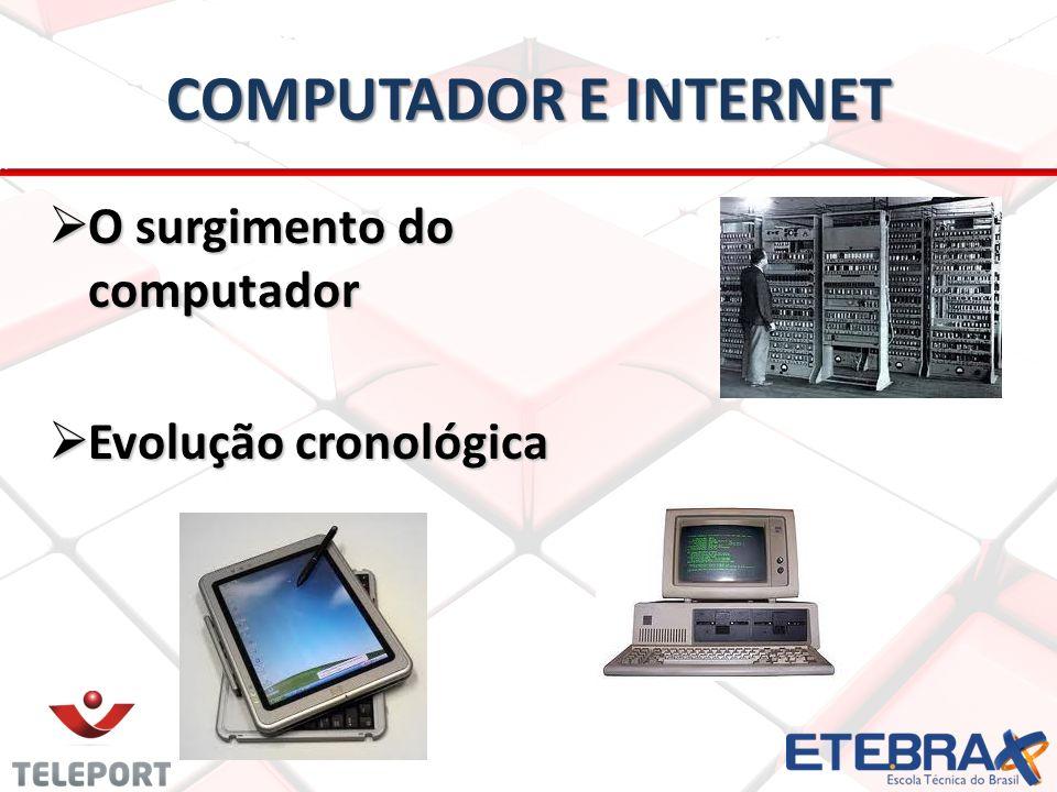 COMPUTADOR E INTERNET O surgimento do computador O surgimento do computador Evolução cronológica Evolução cronológica