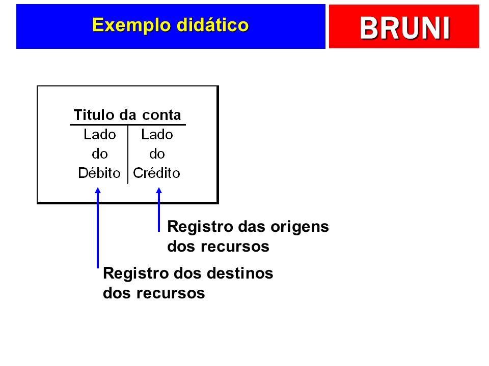 BRUNI As contas T Facilitam o processo de registro dos fatos contábeis Entendendo o registro...