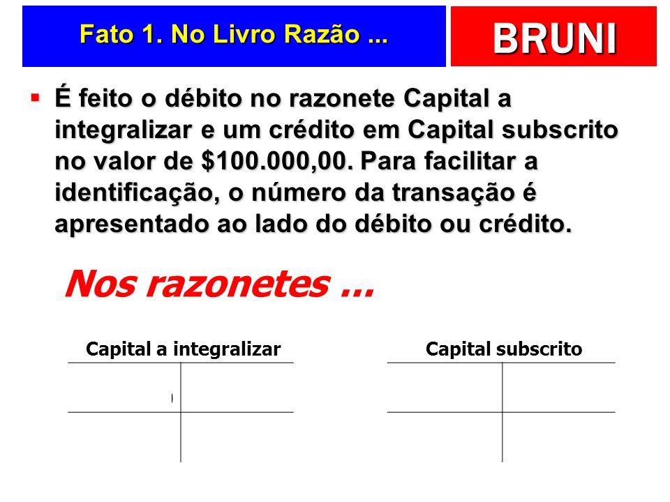 BRUNI Analisando a... Patrimonial Pai Rico Ltda. No Livro Razão