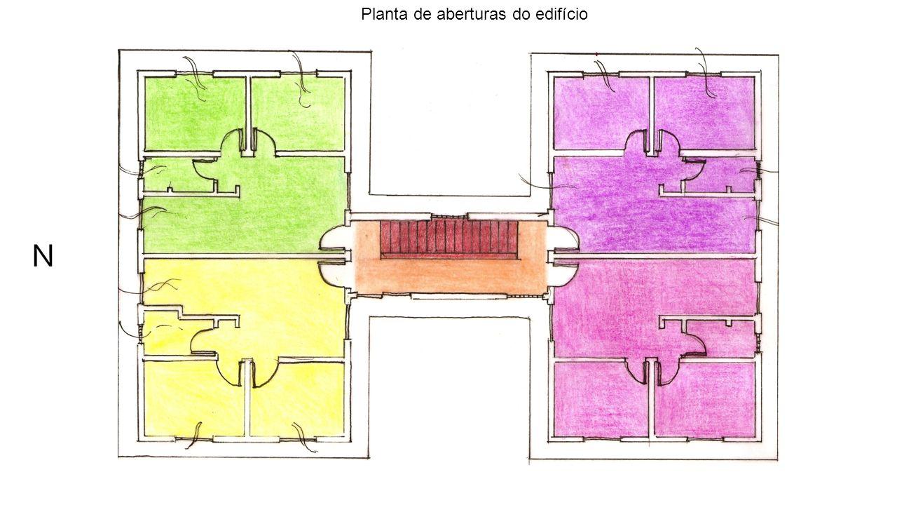 N Planta de aberturas do edifício