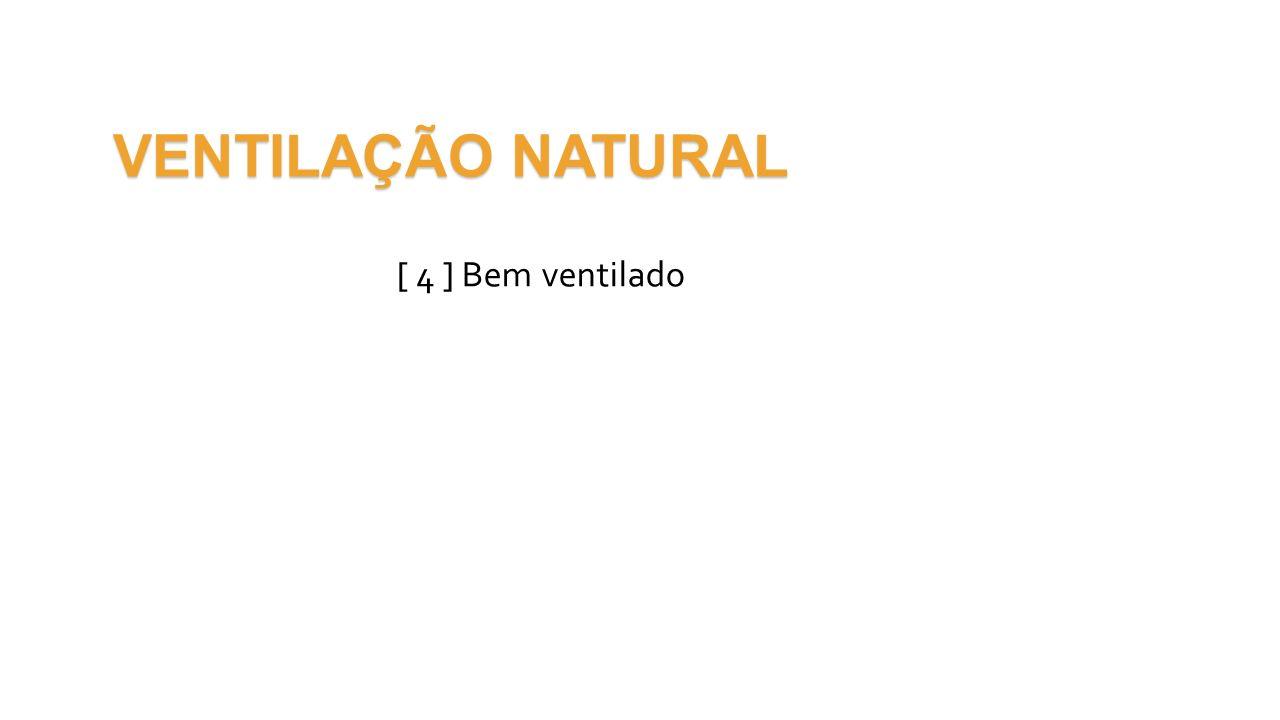 VENTILAÇÃO NATURAL [ 4 ] Bem ventilado