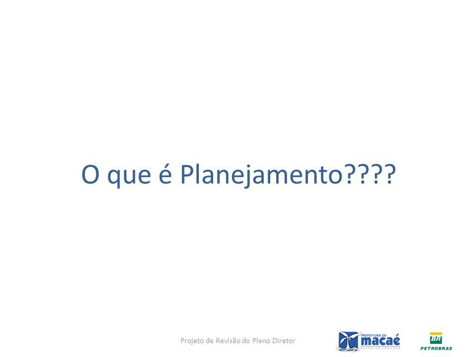 O que é Planejamento???? Projeto de Revisão do Plano Diretor