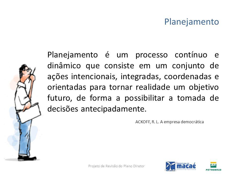 Planejamento Planejamento é um processo contínuo e dinâmico que consiste em um conjunto de ações intencionais, integradas, coordenadas e orientadas pa