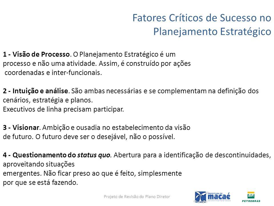 Fatores Críticos de Sucesso no Planejamento Estratégico 1 - Visão de Processo. O Planejamento Estratégico é um processo e não uma atividade. Assim, é