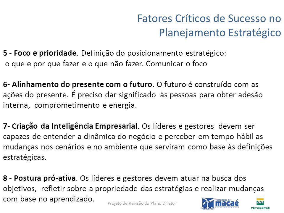 5 - Foco e prioridade. Definição do posicionamento estratégico: o que e por que fazer e o que não fazer. Comunicar o foco 6- Alinhamento do presente c