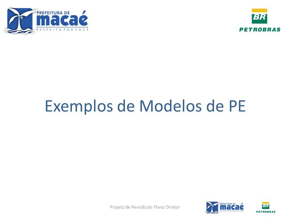 Exemplos de Modelos de PE Projeto de Revisão do Plano Diretor