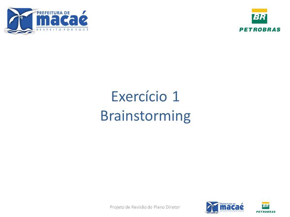 Exercício 1 Brainstorming Projeto de Revisão do Plano Diretor