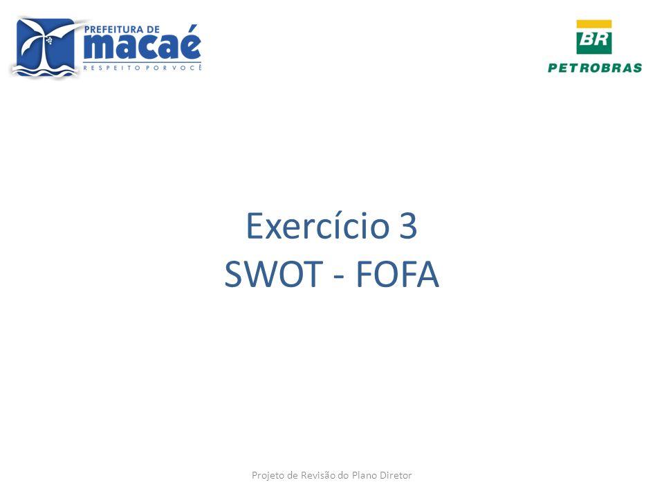 Exercício 3 SWOT - FOFA Projeto de Revisão do Plano Diretor