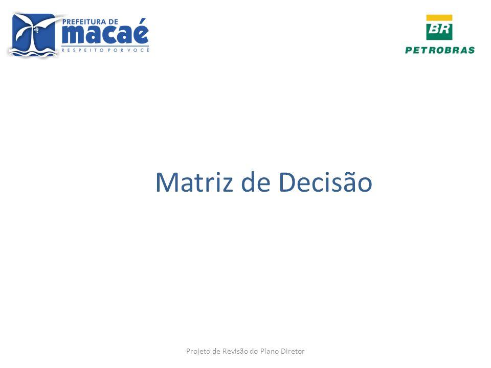 Matriz de Decisão Projeto de Revisão do Plano Diretor