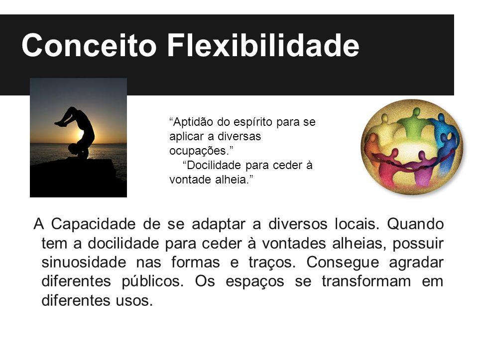Conceito Flexibilidade A Capacidade de se adaptar a diversos locais.