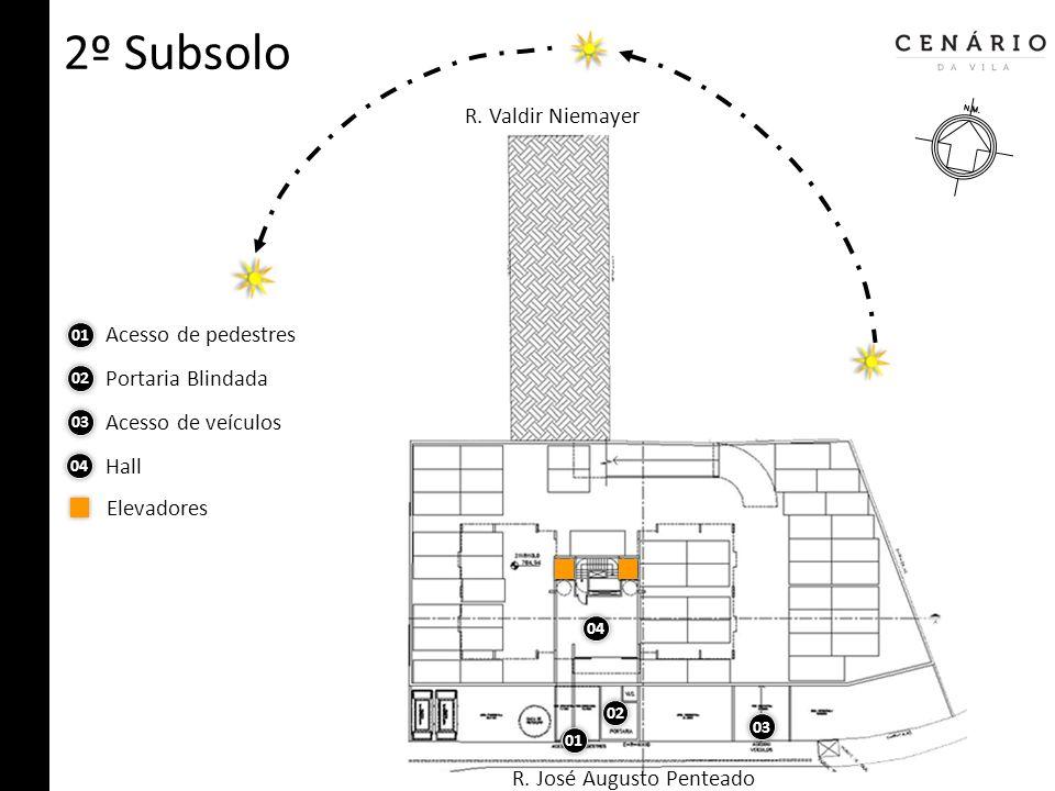 Quiz Possui: 1 pavimento penthouse + 16 pavimentos tipo + 1 pavimento cobertura.