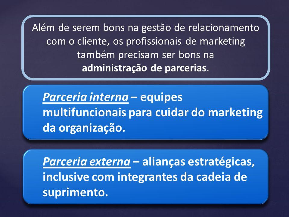 Além de serem bons na gestão de relacionamento com o cliente, os profissionais de marketing também precisam ser bons na administração de parcerias. Pa