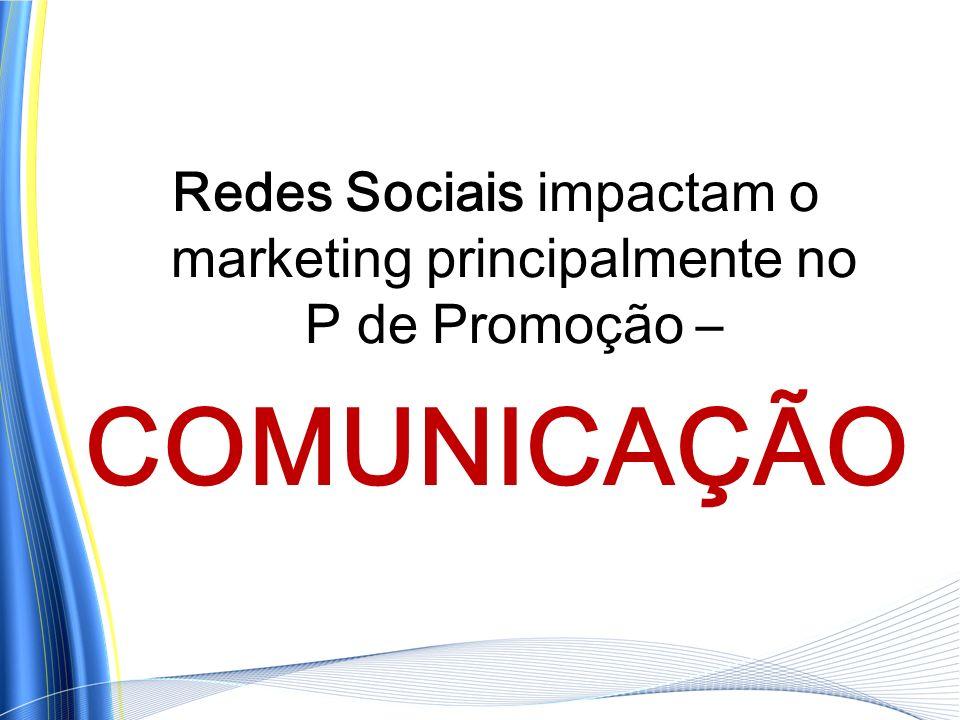 Redes Sociais impactam o marketing principalmente no P de Promoção – COMUNICAÇÃO