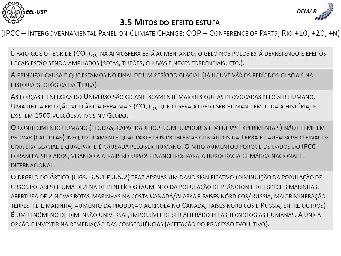 F IG. 3.5.1 A S CONSEQUÊNCIAS DO DERRETIMENTO DO GELO EEL-USP DEMAR