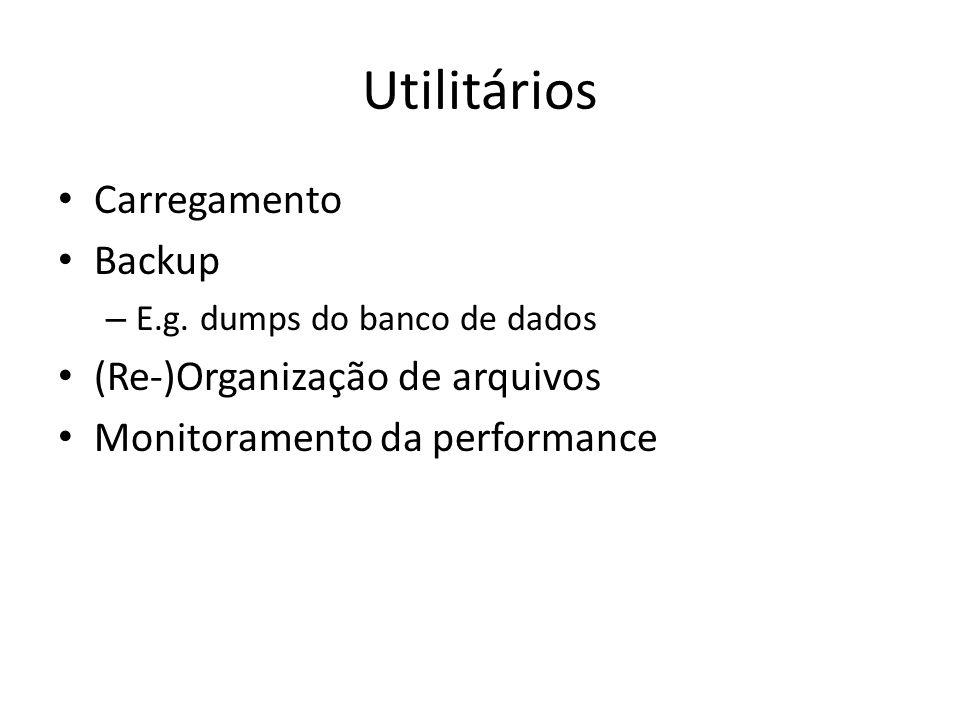Utilitários Carregamento Backup – E.g.