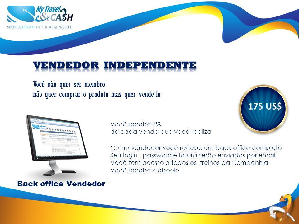 175 US$ Como vendedor você recebe um back office completo Seu login, password e fatura serão enviados por email.