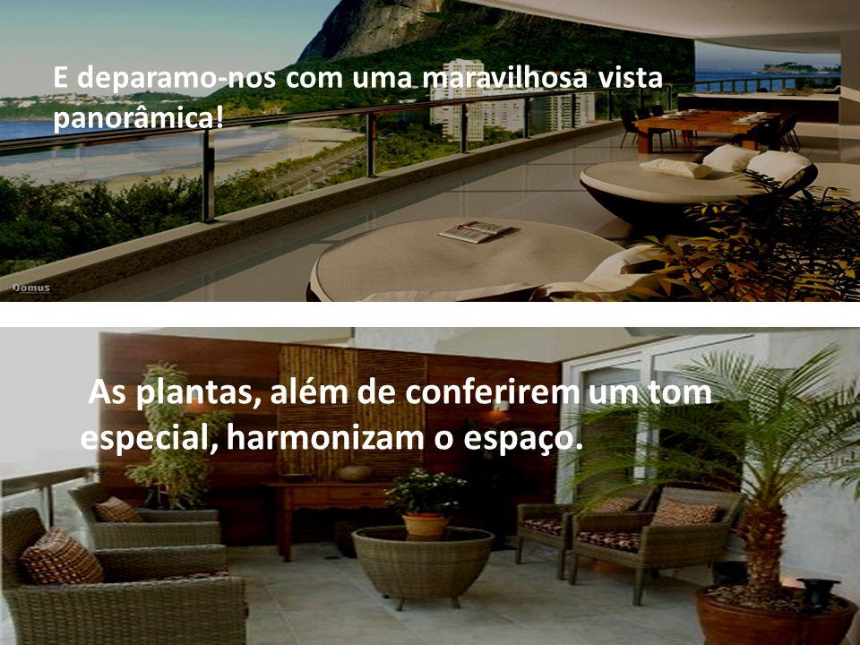 As plantas, além de conferirem um tom especial, harmonizam o espaço. E deparamo-nos com uma maravilhosa vista panorâmica!