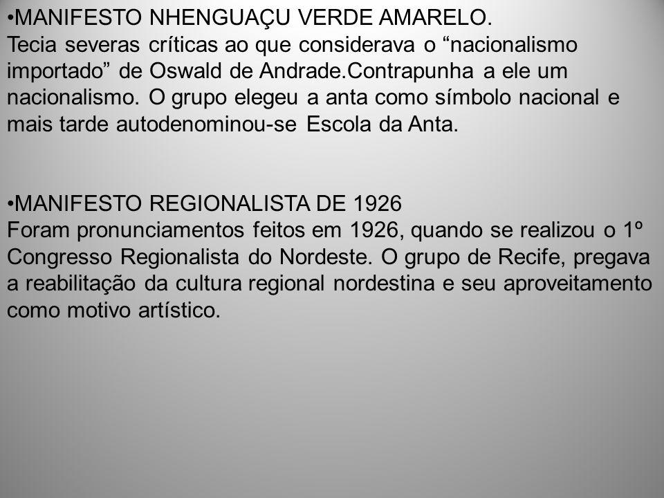 MANIFESTO NHENGUAÇU VERDE AMARELO.