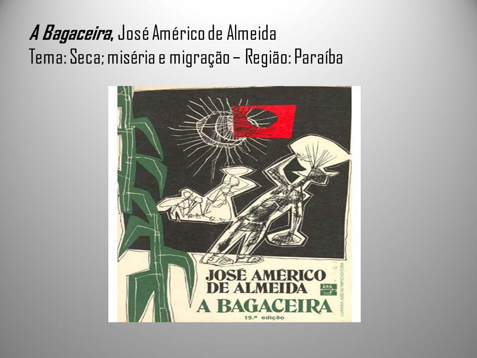 A Bagaceira, José Américo de Almeida Tema: Seca; miséria e migração – Região: Paraíba