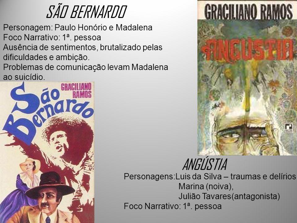 SÃO BERNARDO Personagem: Paulo Honório e Madalena Foco Narrativo: 1ª.