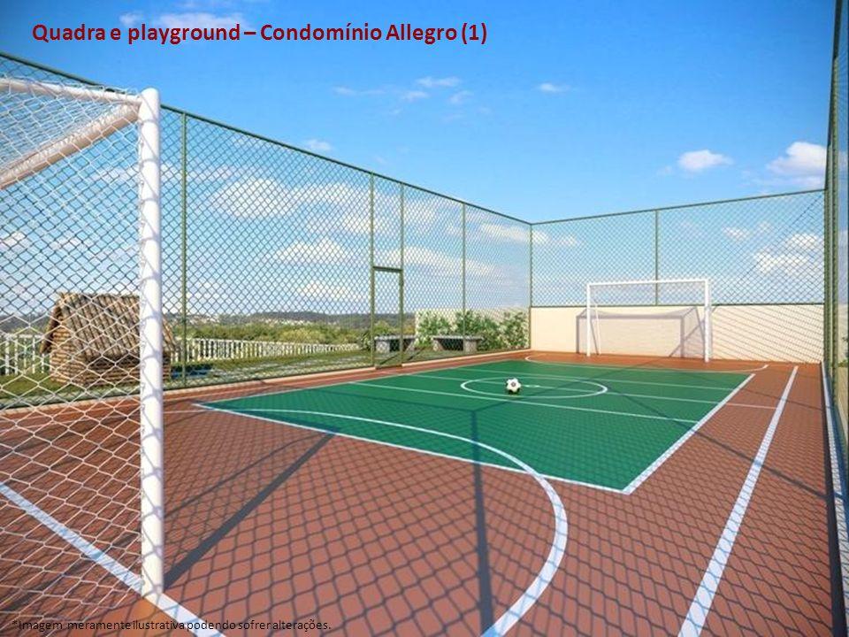 Quadra e playground – Condomínio Allegro (1) *Imagem meramente ilustrativa podendo sofrer alterações.