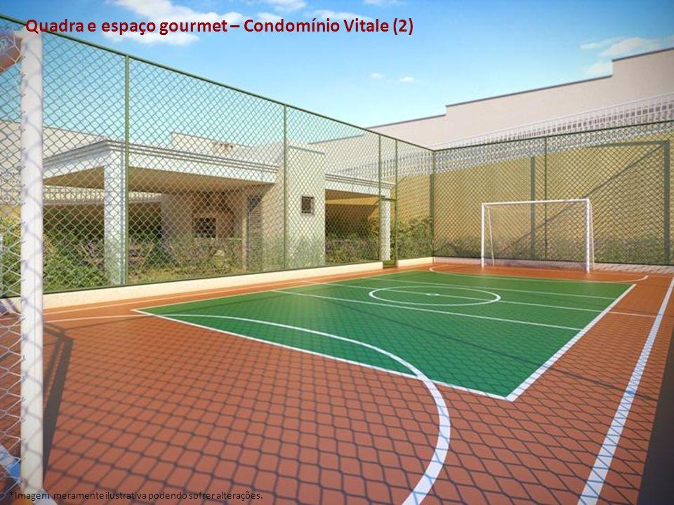Quadra e espaço gourmet – Condomínio Vitale (2) *Imagem meramente ilustrativa podendo sofrer alterações.